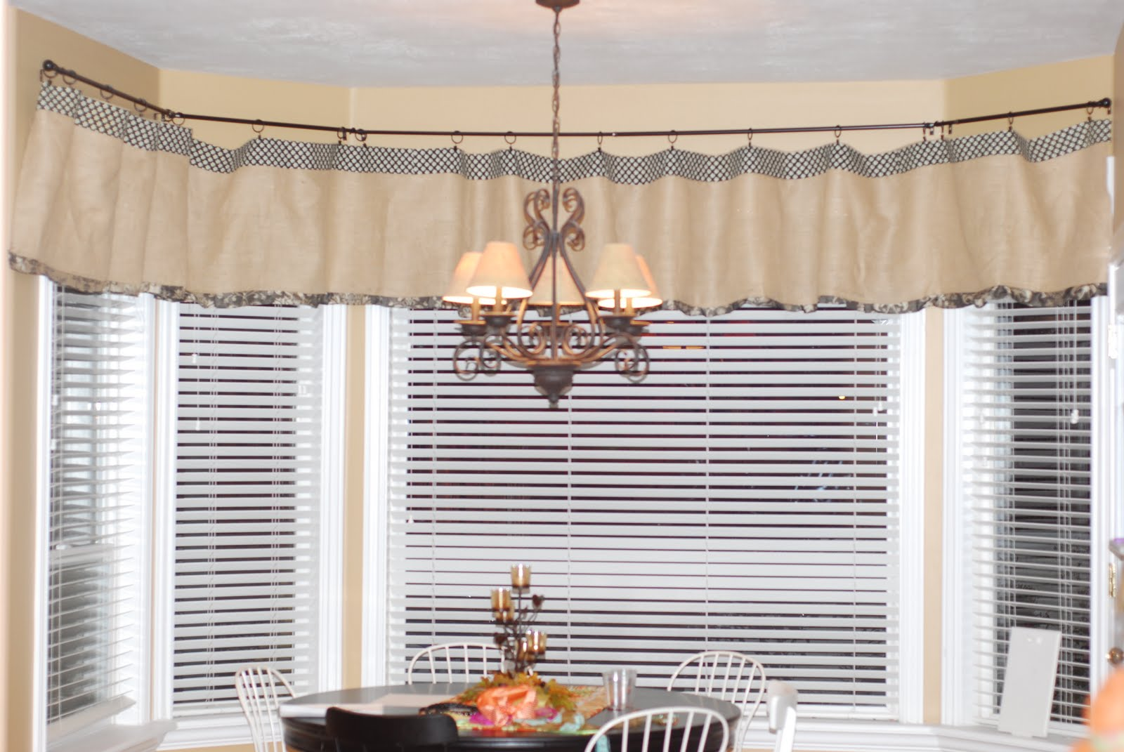 Burlap kitchen curtains no sew - Creative Fridays Burlap No Sew Kitchen Curtains
