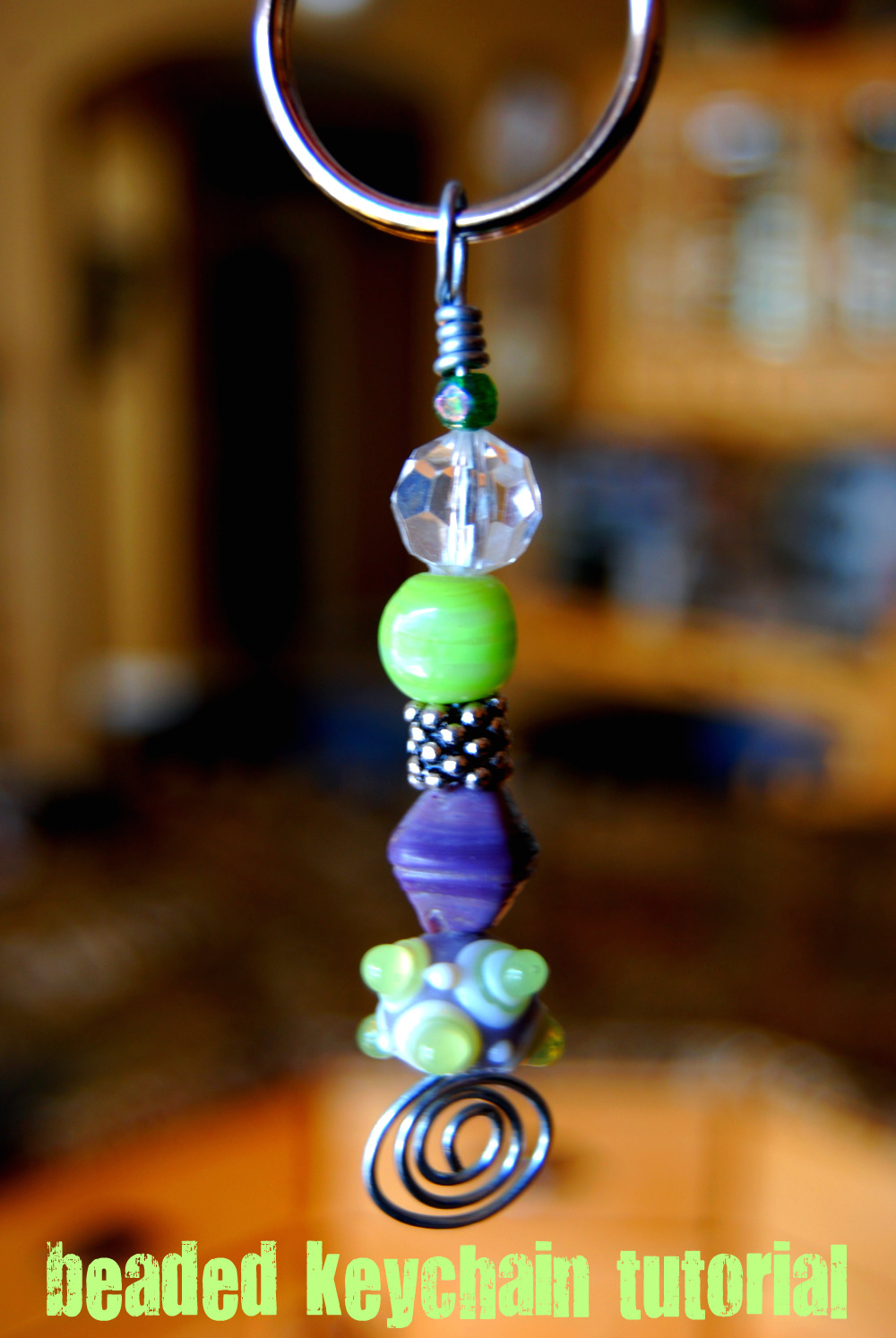 Beaded Keychain Tutorial My Blog Page 2 Circuit Board Glass Pendant Photo Necklace This Is A Really Fun Project To Make Its Fast And Makes Great Stocking Stuffer Or Small Gift For Teacher Babysitter I Started Making These