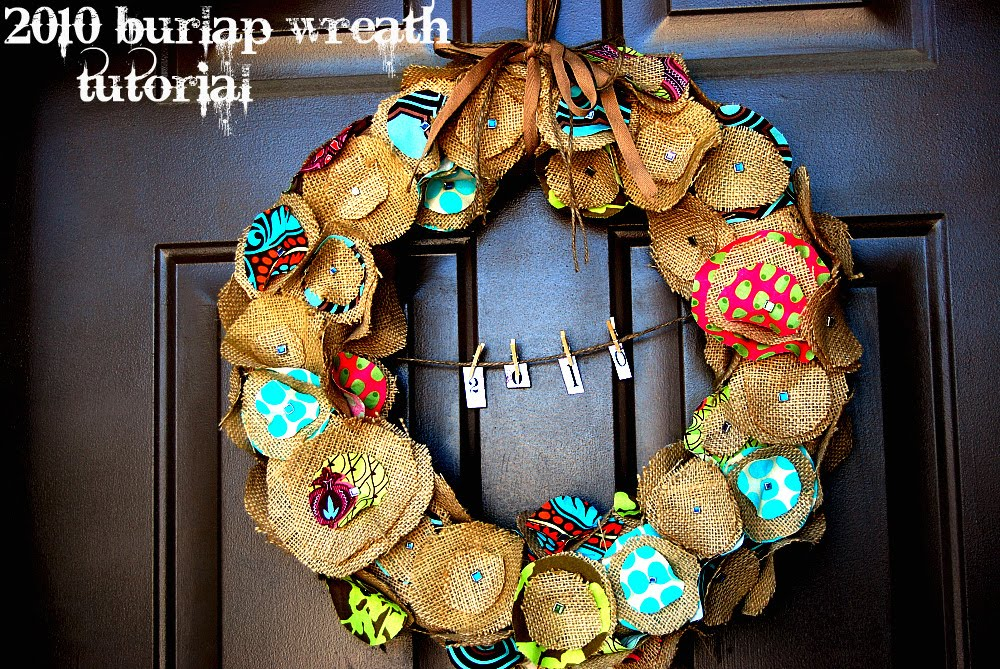 2010 Burlap Wreath And A Giveaway My Blog