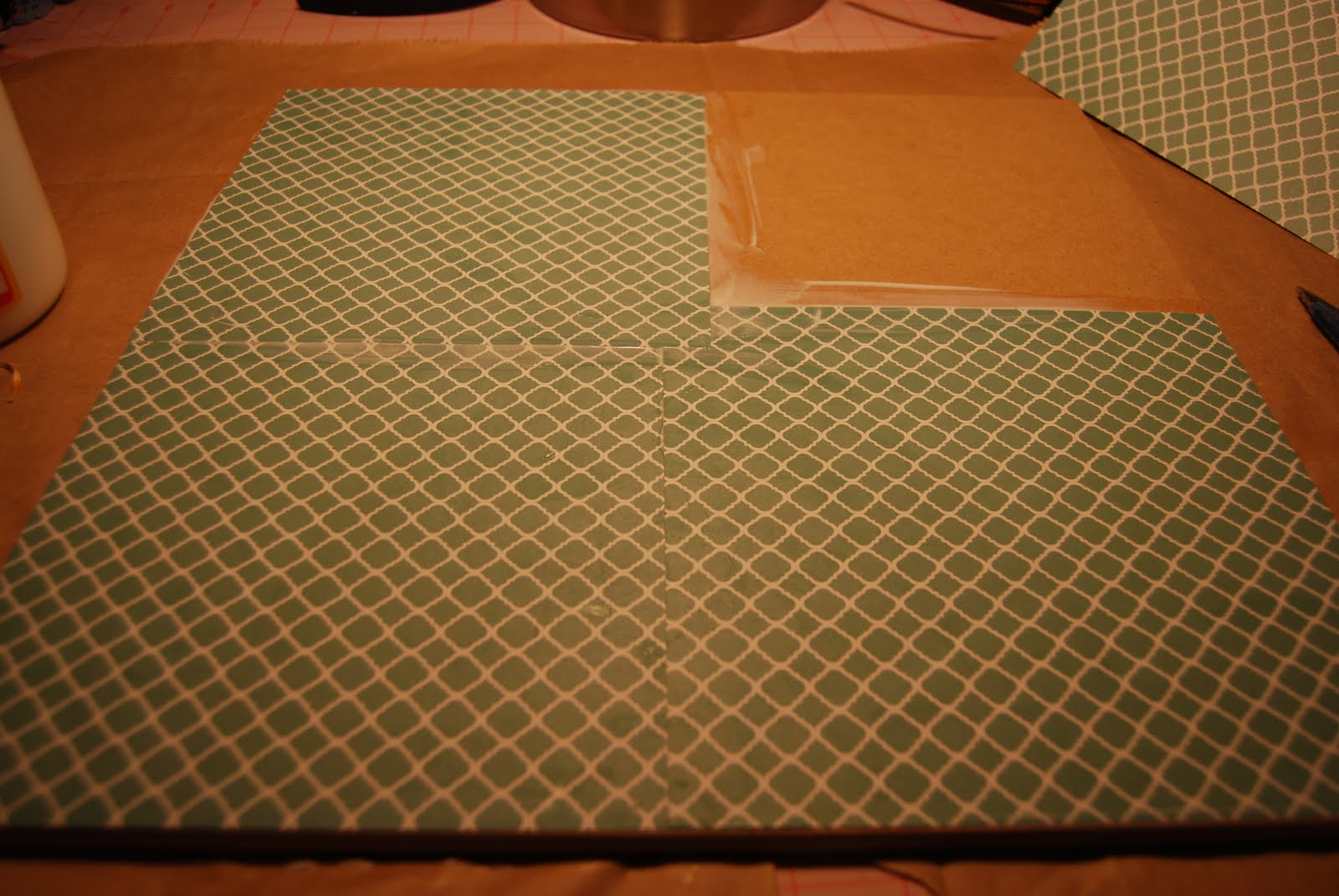 How to put scrapbook paper on wood - Put A Layer Of Mod Podge On The Back Of Your Scrapbook Paper Then Put A Layer Directly On The Canvas Or Board Place The Paper On The Board And Smooth It