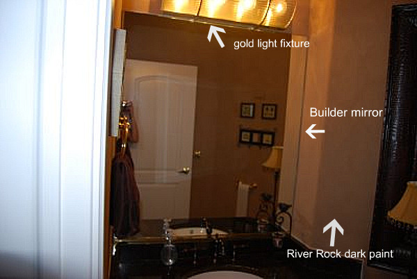 ... Redo My Hall Bathroom For Quite Some Time. It Doesnu0027t Have A Window And  Had Been Painted A Very Dark Brown Color With A River Rock Finish.