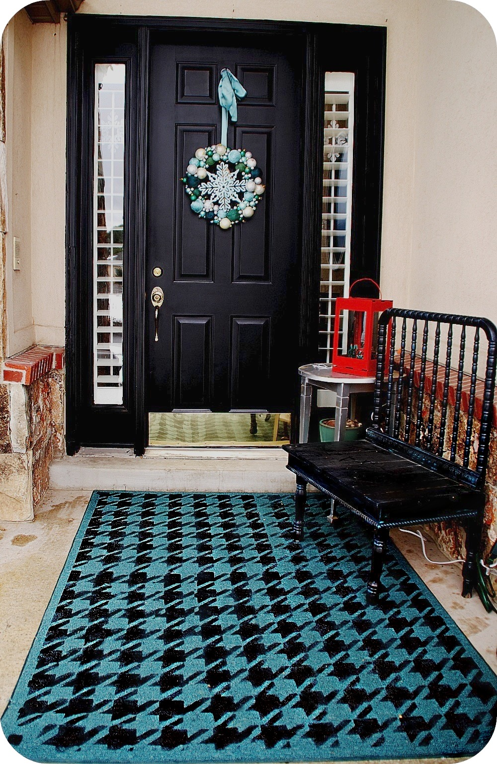 Painting My Door And Stenciling A Rug For My Front Porch