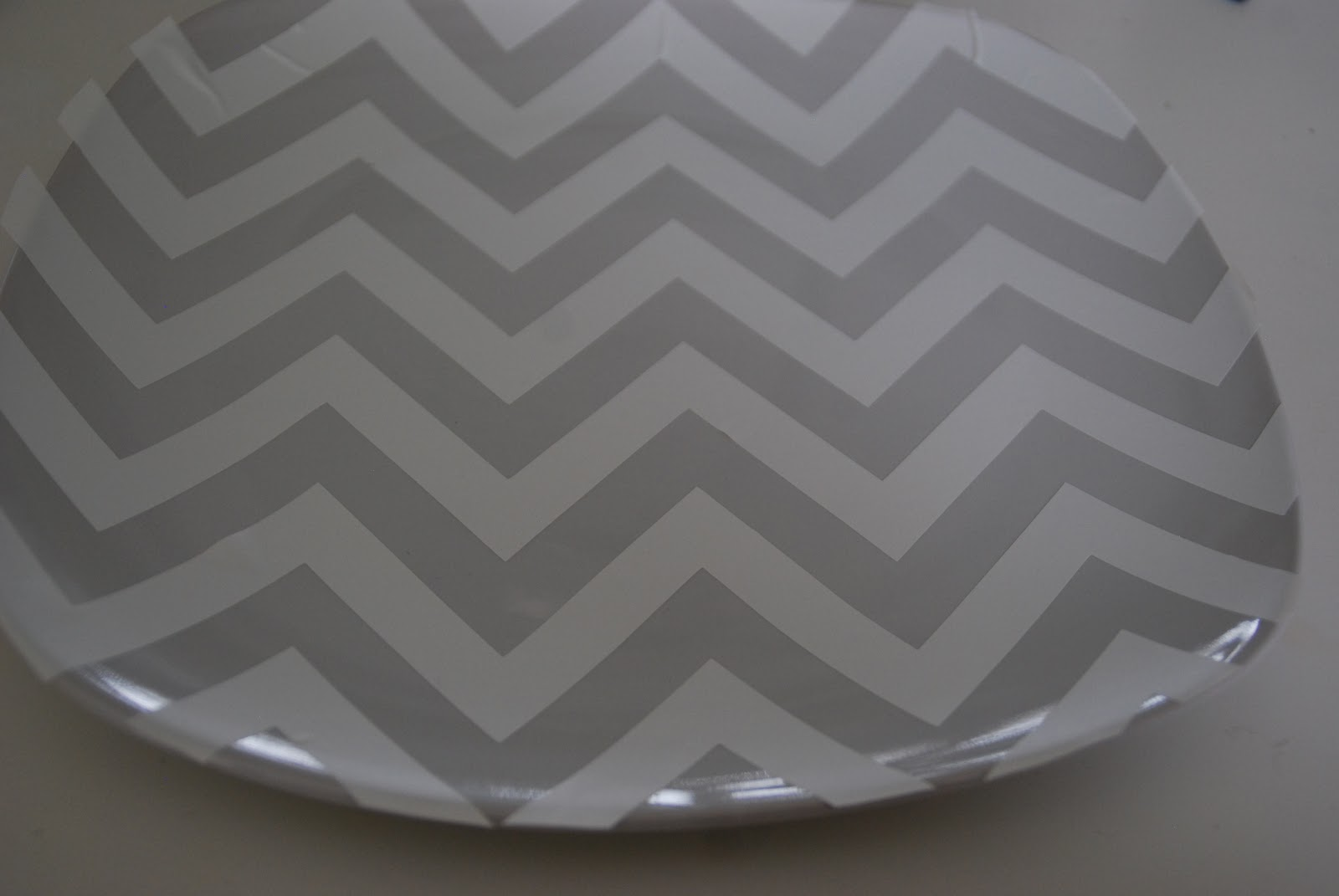 5 challenge 3 different dollar store tiered tray ideas for Chevron template for painting