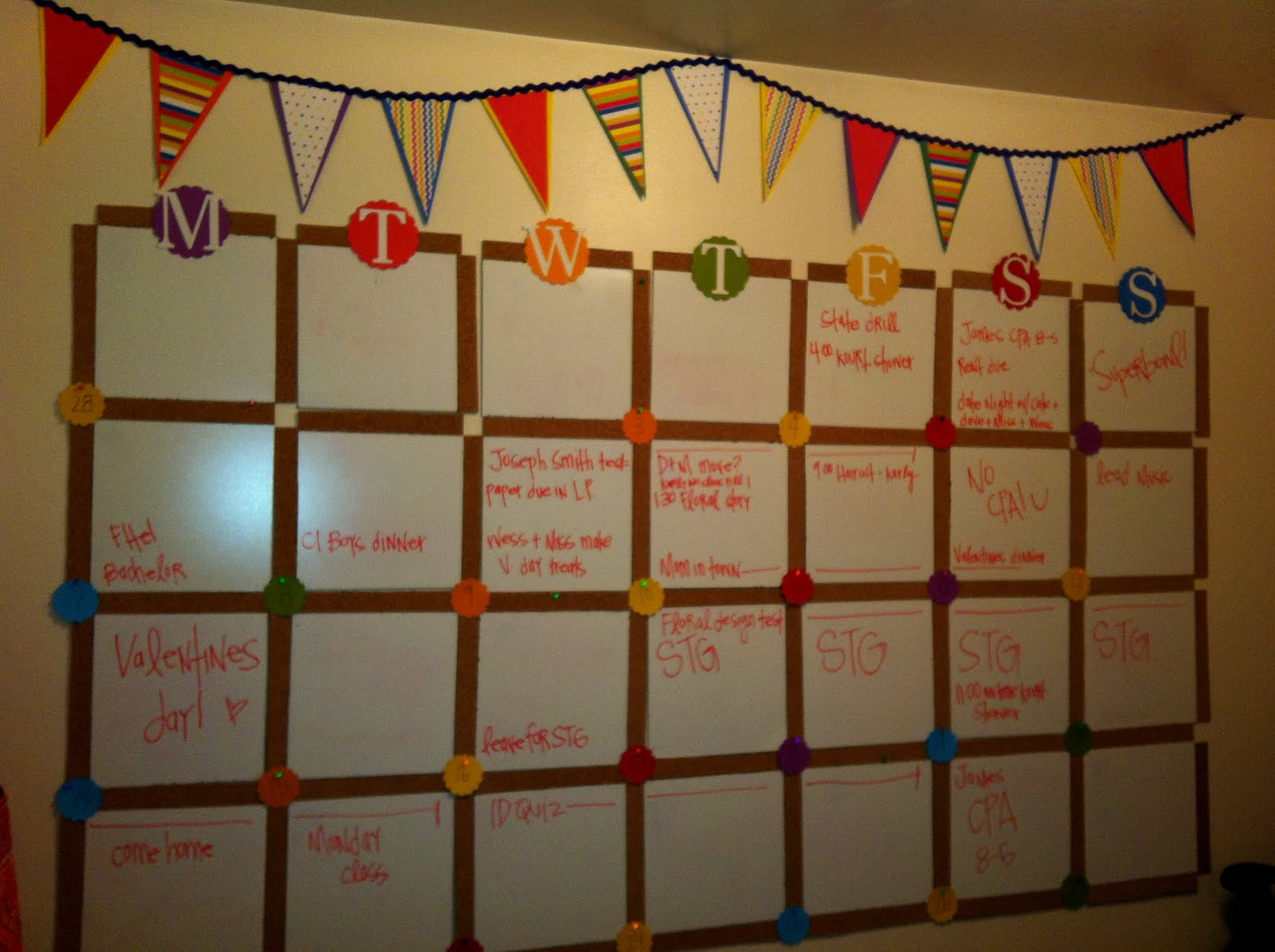Calendar Monthly Ideas : Calendar wall my