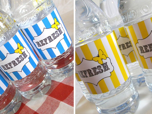 Guest project how to make custom water bottle labels with free printables