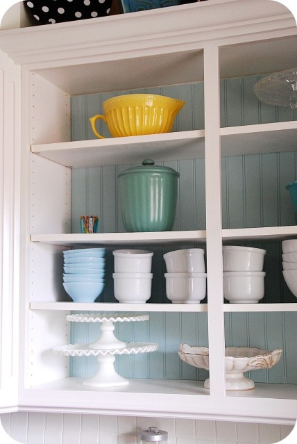 Create A Kitchen Focal Point With A Beadboard Cabinet
