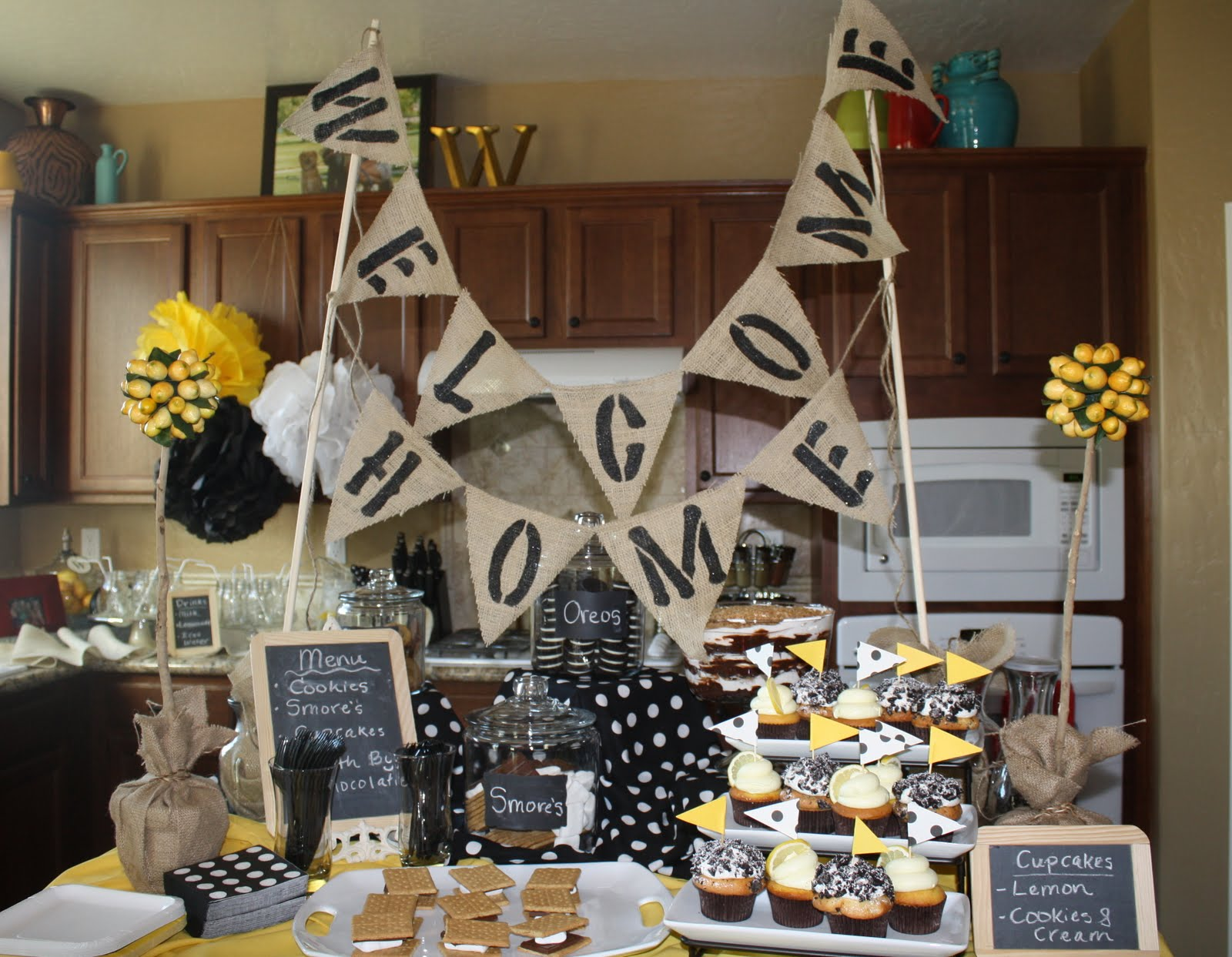 Great ideas parties 2 my blog for Welcome home decorations