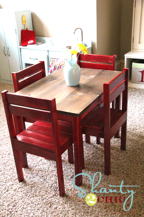 how to build a kids table and chairs