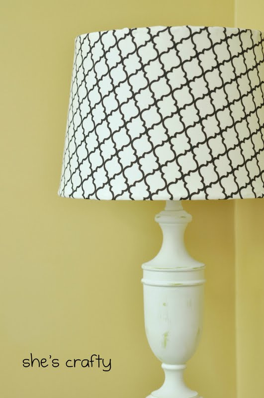Great ideas painted projects 1 my blog for Redoing lamp shades